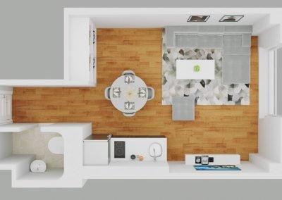 19 Line Modern Studio w Oven